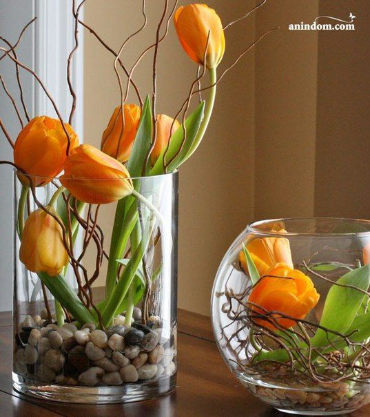 Fr hling ostern diy dekoration spring easter decor for Blumen dekorieren im glas