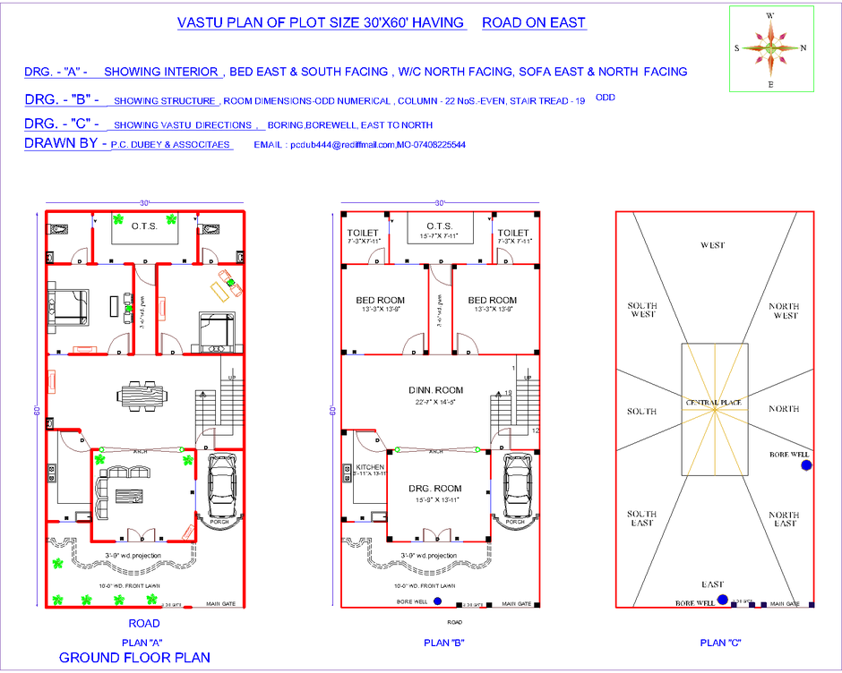 Front Elevation As Per Vastu : Introduction to vastu indian plans house
