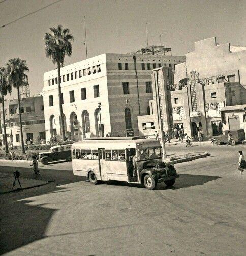 مدينة يافا 1939 سينما الحمراء في شارع جمال باشا فلسطين Street View Street Scenes