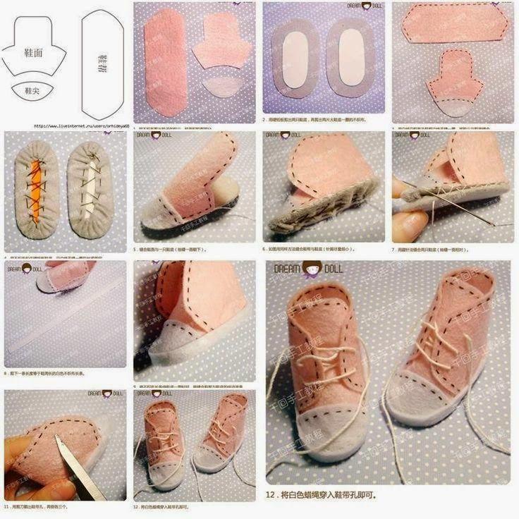 Zatrzymac Czas Buty Dla Lalek Doll Shoe Patterns Baby Shoes Diy Doll Shoes
