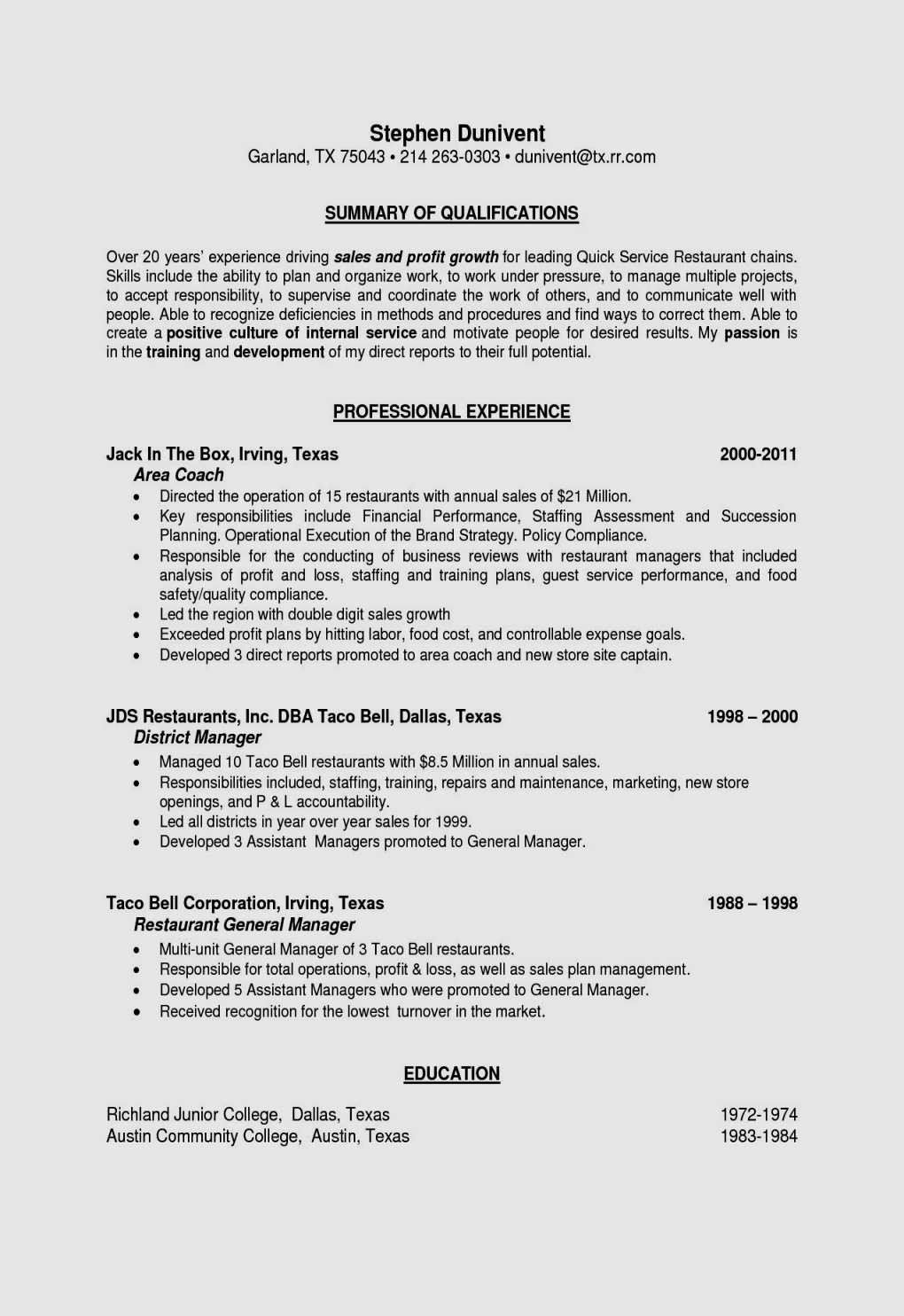 Restaurant Manager Resume Examples Guide To Resume Template Restaurant Manager Free Resume Cover Letter For Resume Resume Cover Letter Template Resume Examples