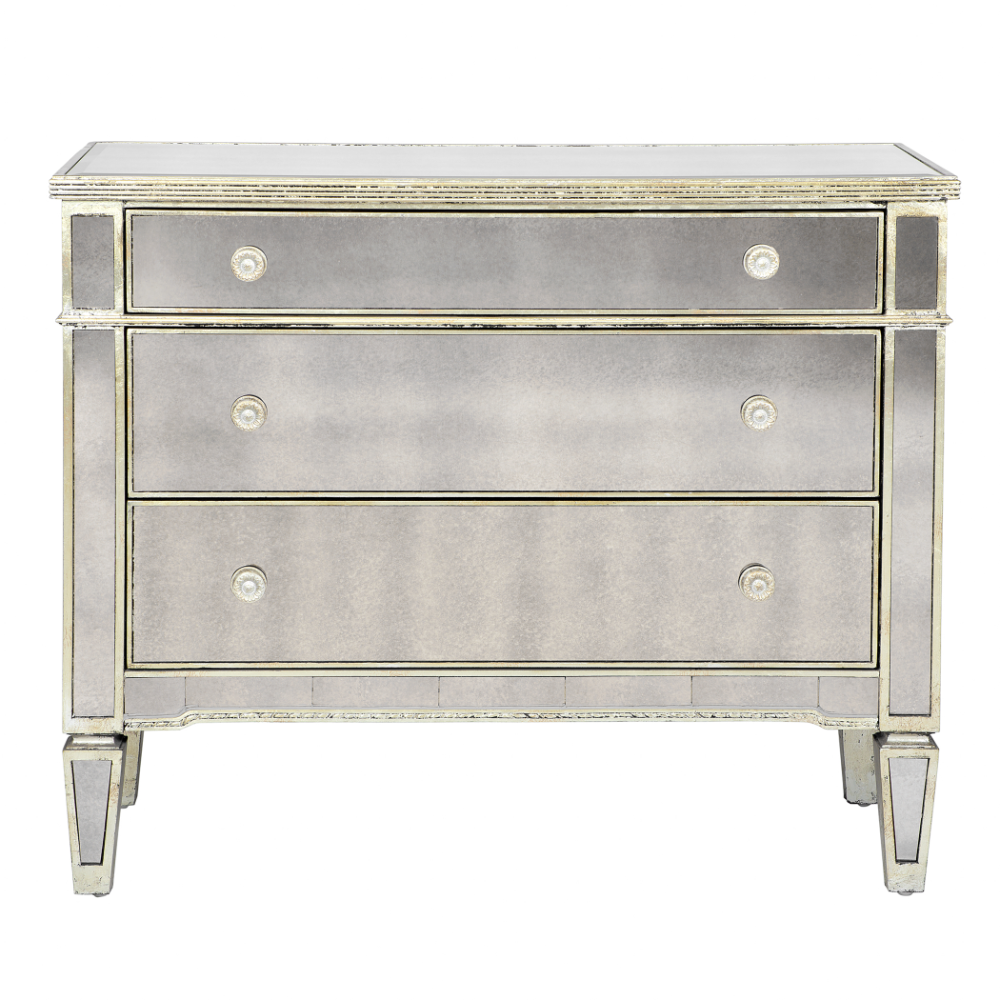 Borghese Mirrored 3 Drawer Chest In 2020 Mirrored Chest