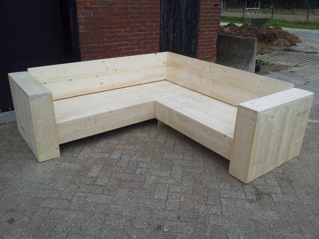 loungebank van steigerhout zelf maken met een tekening