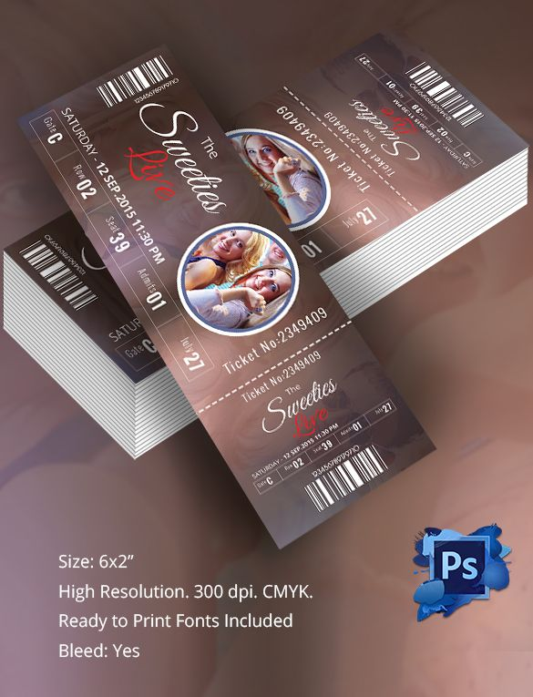 Ticket Template - 91+ Free Word, Excel, PDF, PSD, EPS Formats