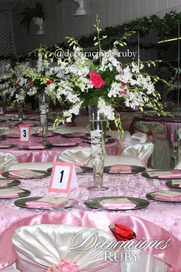 Cubre mantel rosa pastel