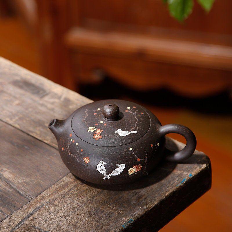 Yixing Zisha teapot, Yixing clay teapot, handmade chinese teapot, handmade teapot, Zisha teapot, handcrafted teapot, purple clay teapot