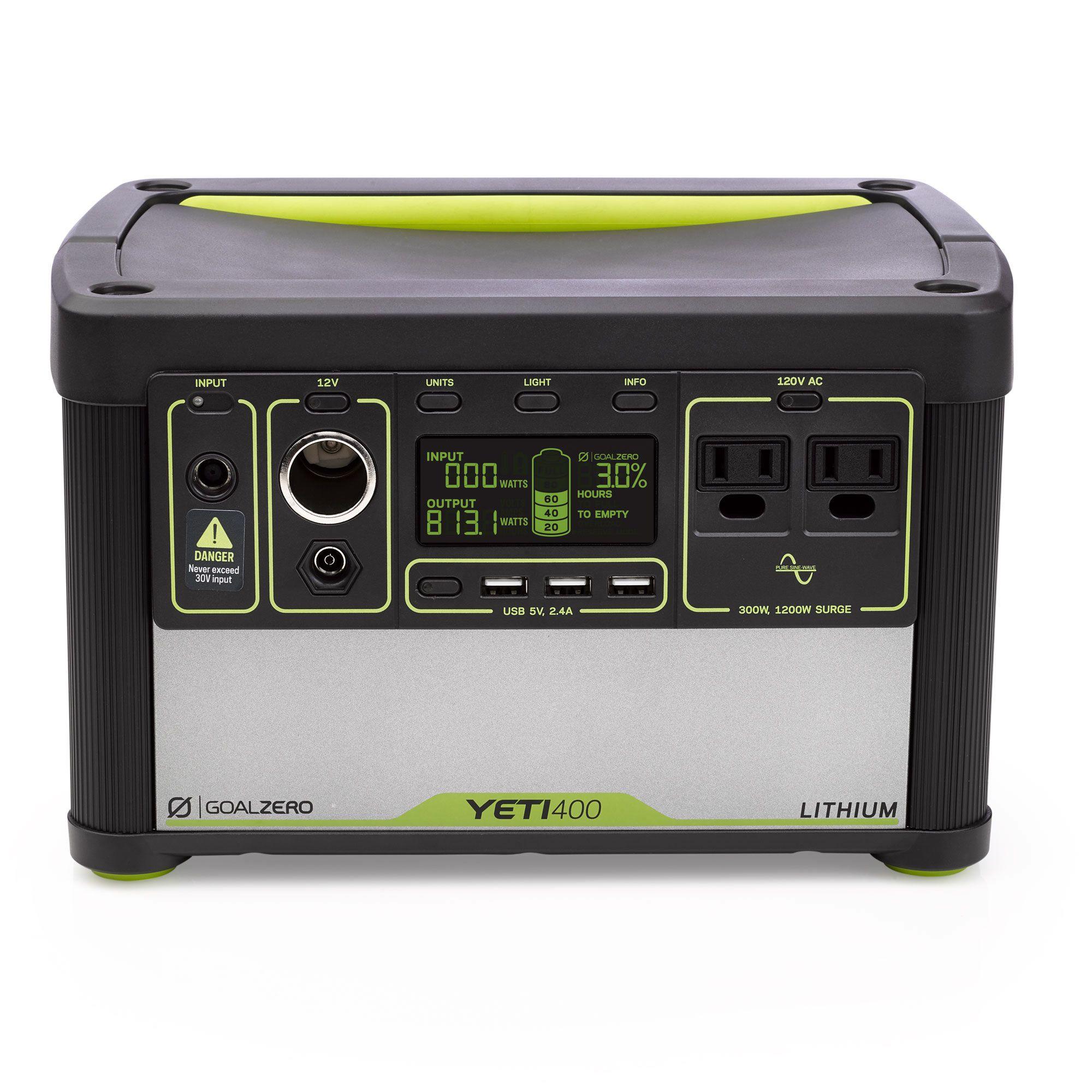 Yeti 400 Lithium Portable Power Station Solar Generator Goal Zero Goal Zero Power Station Solar Generator Best Solar Panels