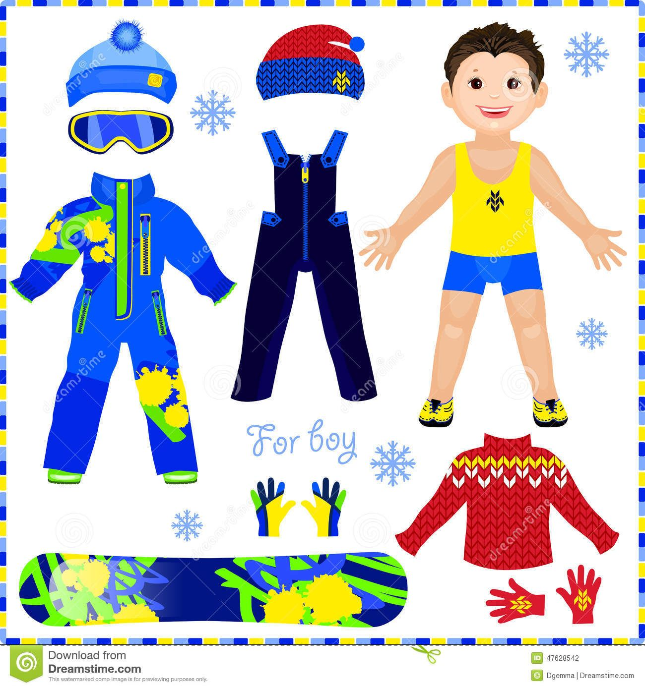 Male Paper Dolls Print Outs