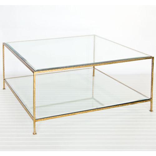 Quadro 2 Tier Square Coffee Table Gold 1 399 00
