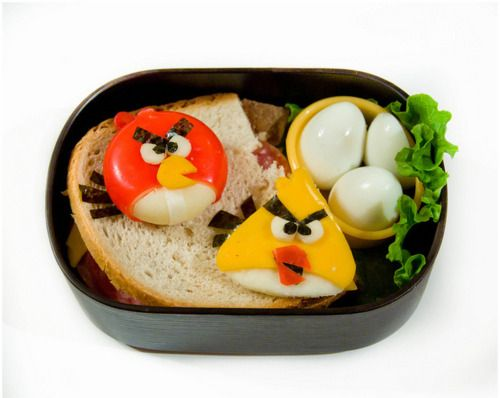Angry Birds Protecting Their Egg Lunch D Bento Box Fun
