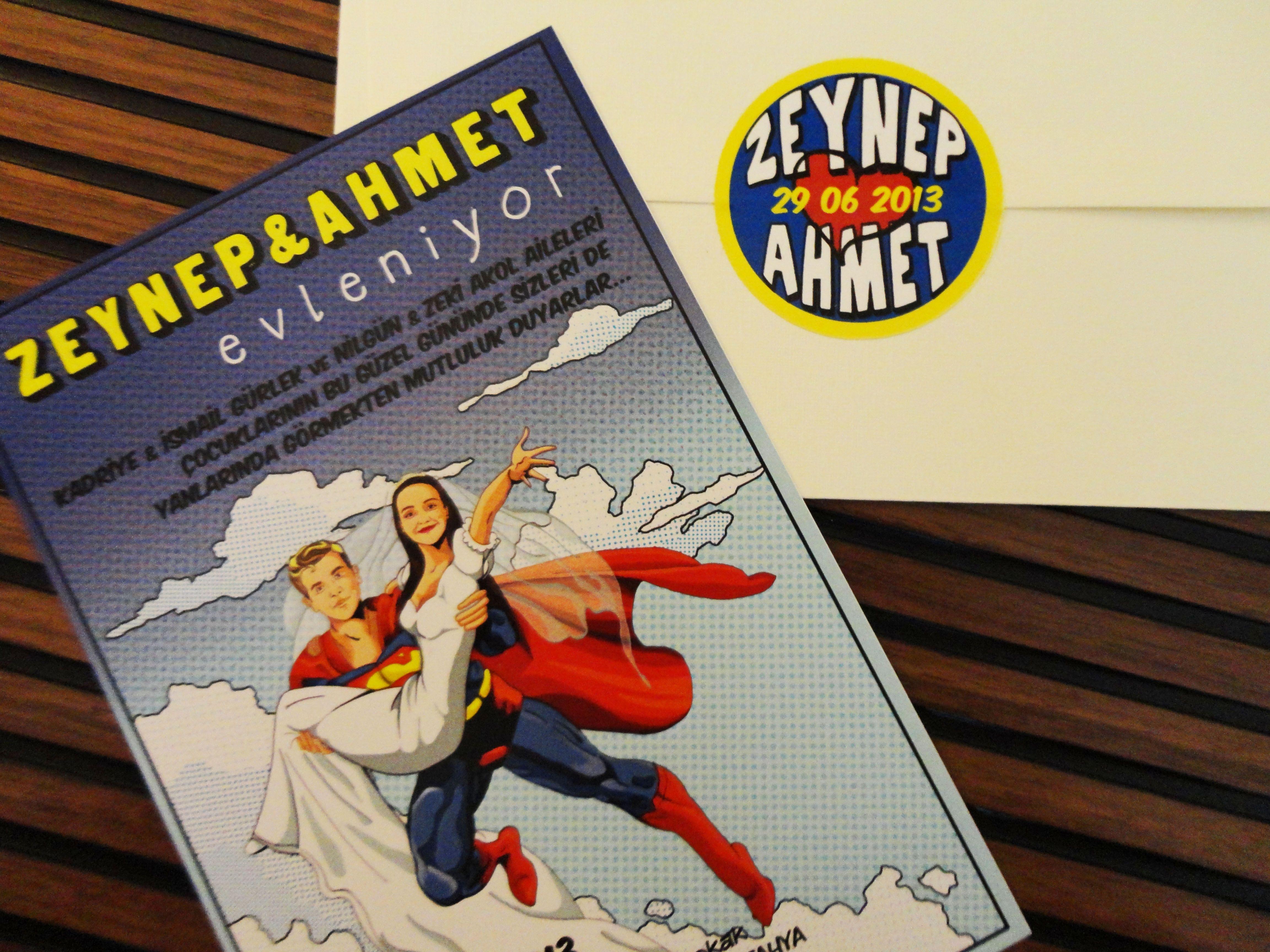 Superhero Comic Book Theme Wedding Invitation Favor Seating Chart Save