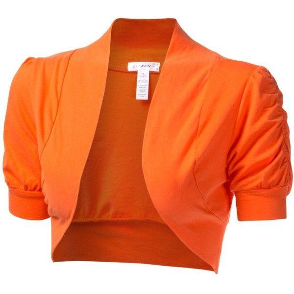 J.TOMSON Womens Trendy Short Sleeve Bolero Cardigan ($13) ❤ liked ...