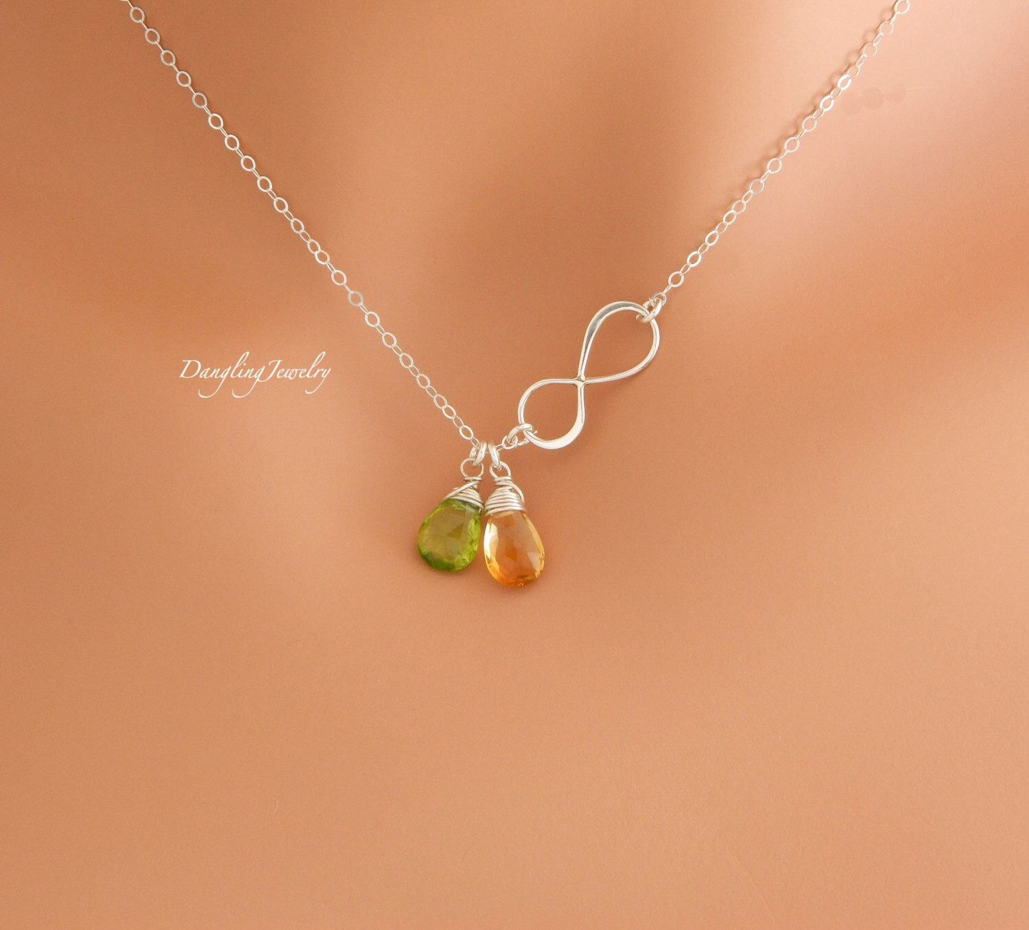 uk necklace mother jewellery infinity heart silver daughter kaya engraved ladies sisters for forever