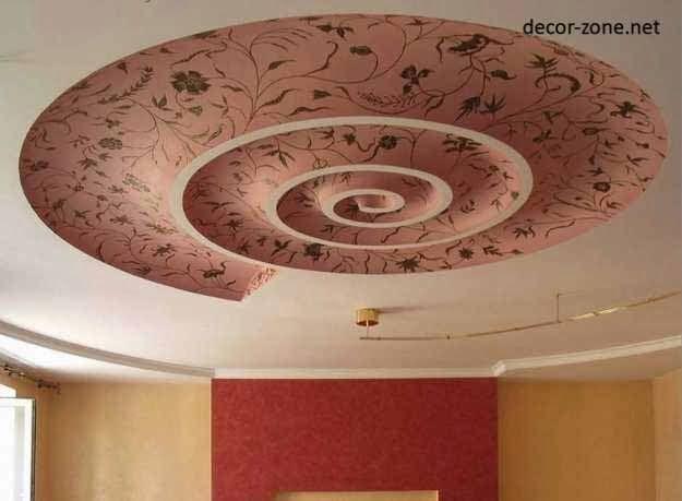 modern ceiling wallpaper patterns ceiling design ideas Pinterest
