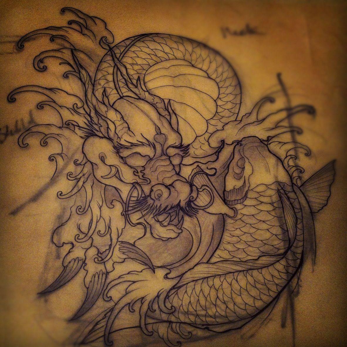 Family Tattoo Ideas Buscar Con Google: KOI Y DRAGONES - Buscar Con Google