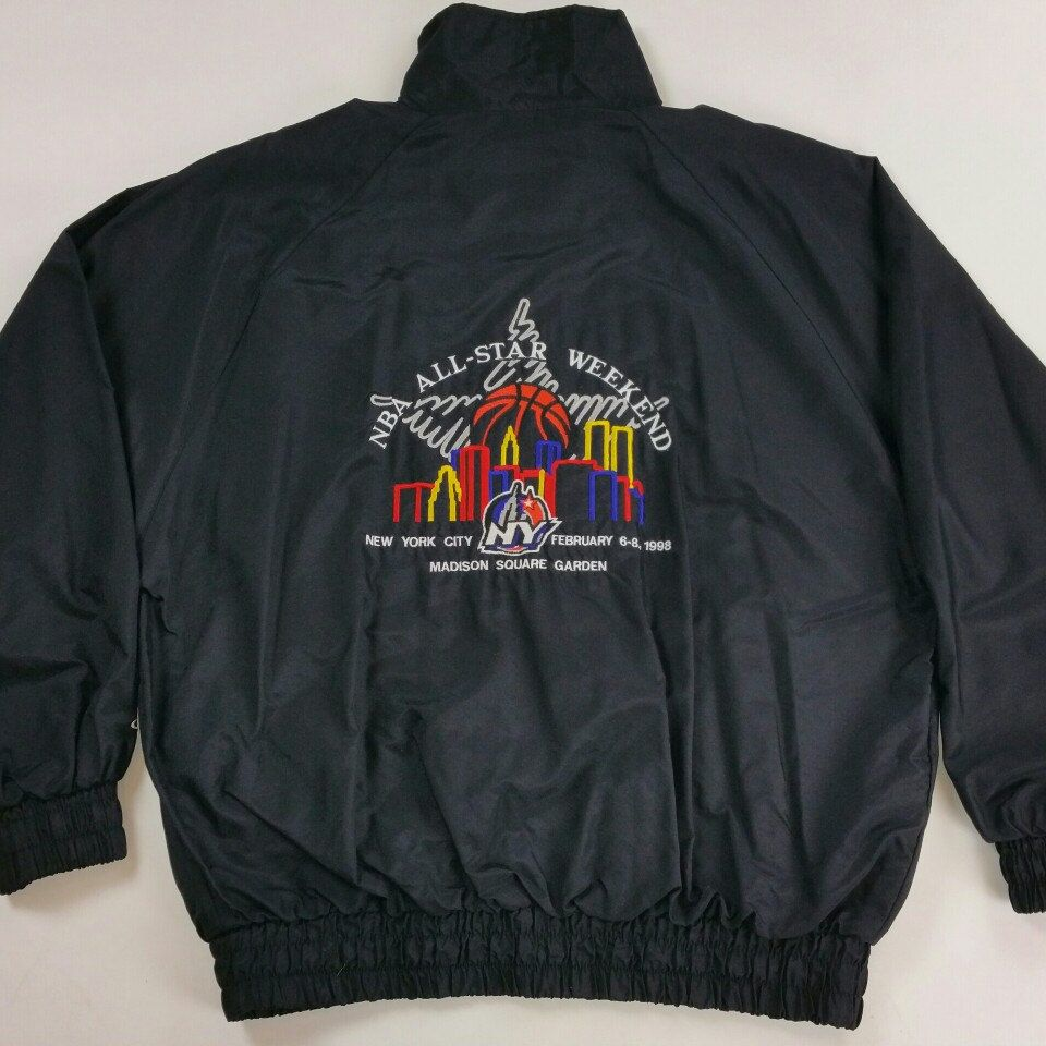 003be56978a41 Check out this Vintage 90s NBA All-star Game Logo Athletic Jacket Available  on JustOneVintage.com Swing by our shop and scoop it up.  JustOneVintage