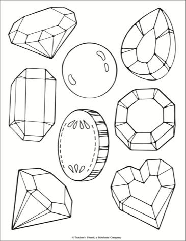 Jewels Coloring Page Printable Coloring Book Art Coloring Pages Emoji Coloring Pages