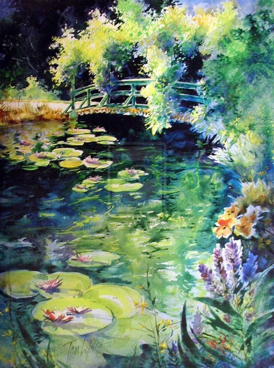 Monet S Lily Pond By Tomlynchwatercolors On Deviantart Art Art Workshop Watercolor Art