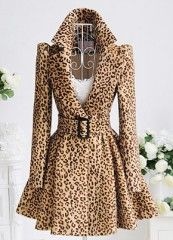 Couture Leopard High-Collar Jacket