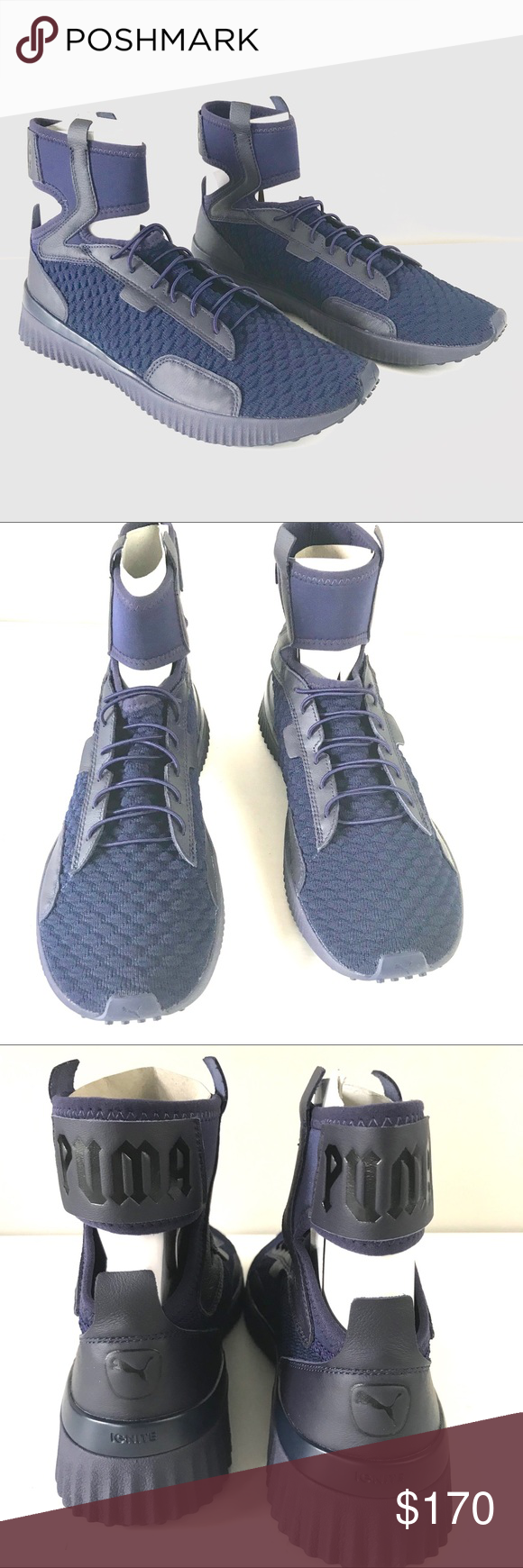 7111130faa5a Puma Fenty Men NEW trainer mid geo knit sneaker 10 Puma x Fenty Mens Trainer  Mid Geo Sneakers size 10 191379 Evening Blue From the Rihanna collaboration  ...