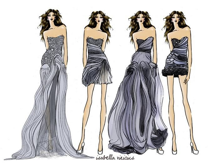 Simple Tips In Drawing Clothes Sketches2 709x Fashion Designing