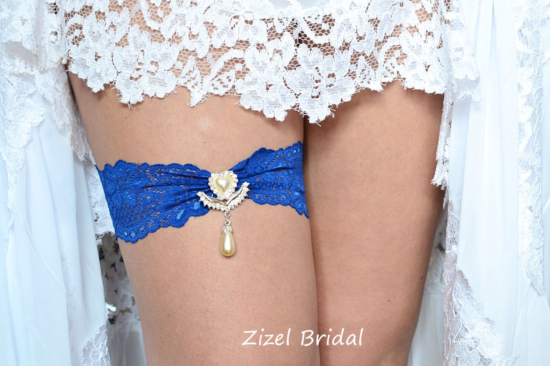 Blue Wedding Garter, Rhinestone Garter,  Lace Garte Set, Blue Bridal Garter, Royal Blue Garter,lingerie Garter, Somethig Blue, Toss Garter by ZizelBridal on Etsy https://www.etsy.com/ca/listing/265057934/blue-wedding-garter-rhinestone-garter