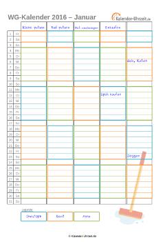 pin von anastasia adolf auf haushalt pinterest kalender 2016 ausdrucken kalender 2016 und. Black Bedroom Furniture Sets. Home Design Ideas