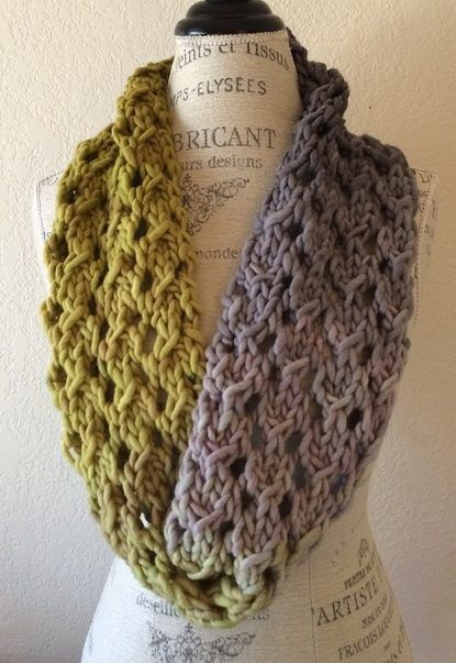 Free Knitting Pattern for Bulky Lace Cowl - This cowl from ...