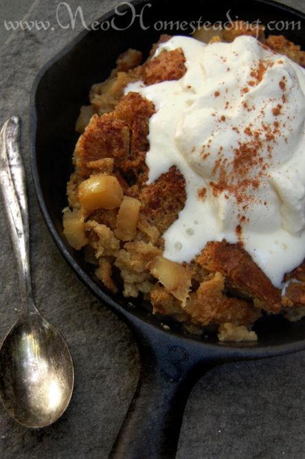 Apple Bread Pudding with Sourdough Bread and Maple Whipped ...