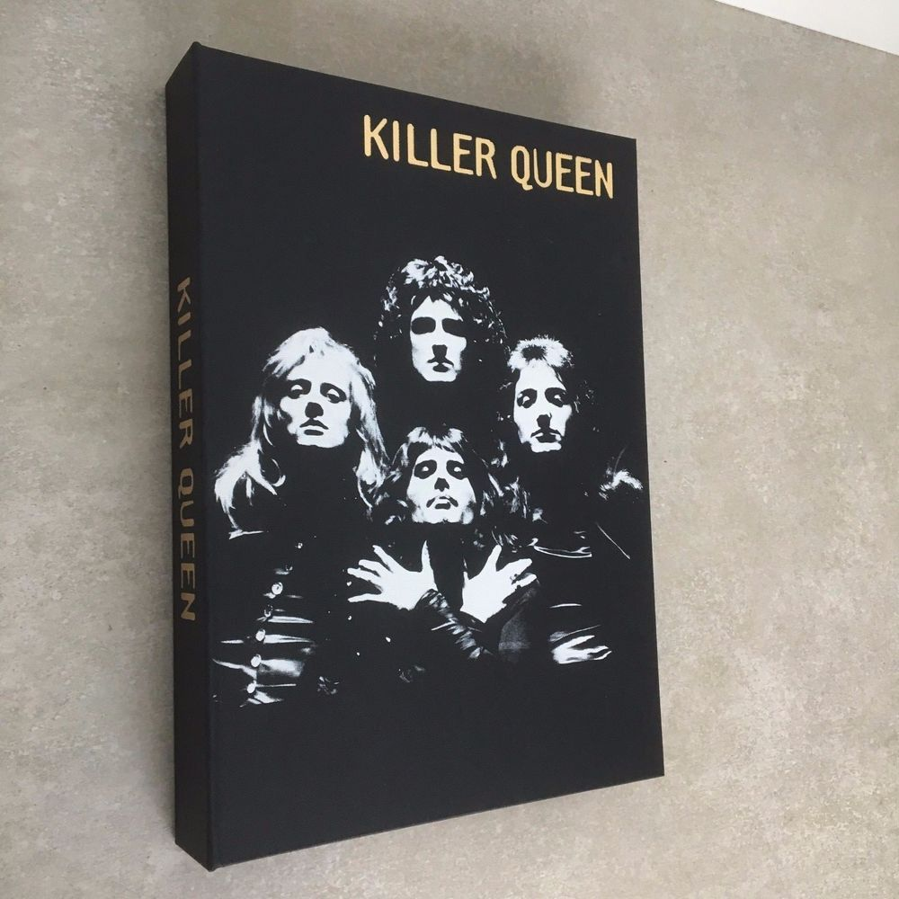 Queen - KILLER QUEEN - MICK ROCK - UK - autographed by Brian May Roger Taylor!!!