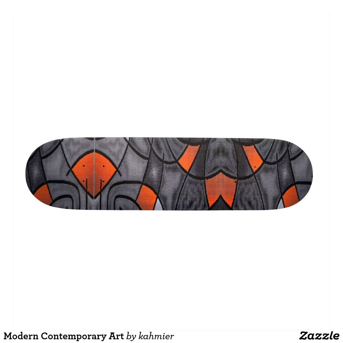 Modern Contemporary Art Skateboard Zazzle Com Contemporary Modern Art Contemporary Art Modern Contemporary