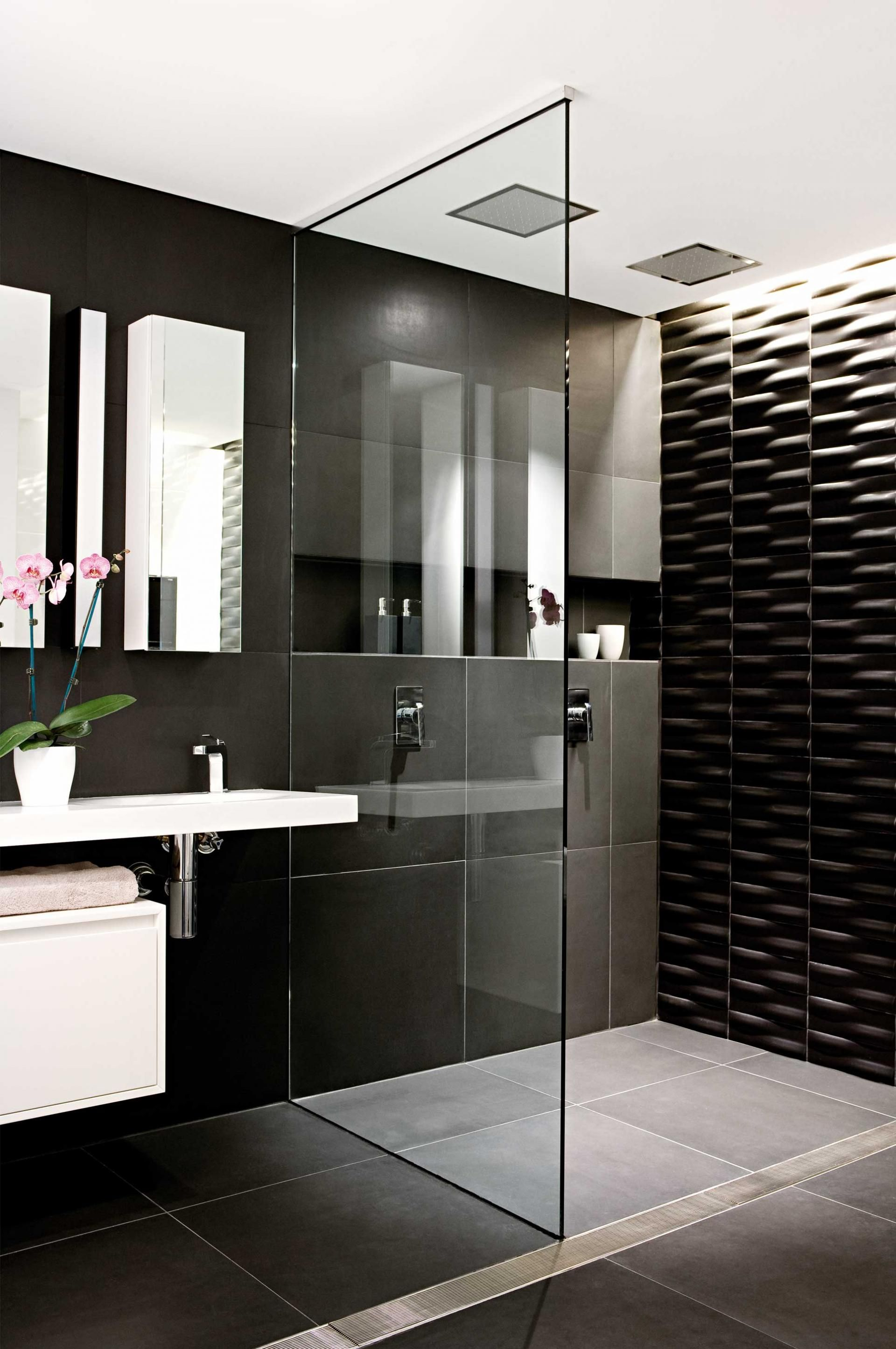 Pics Of  black and white bathrooms Styling by Vanessa Colyer Tay Photography by Sam McAdam