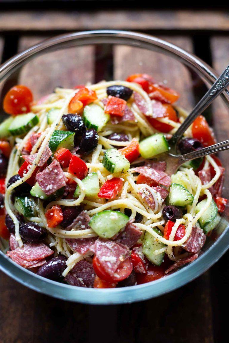 italienischer nudelsalat mit salami super einfach amp so