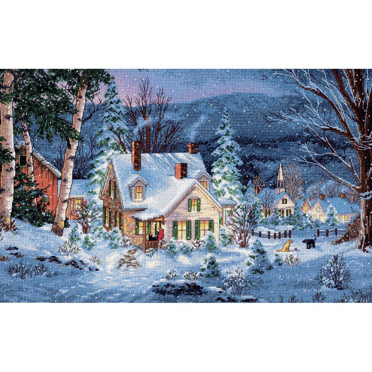 Bright Diy Cross-stitch Kits For Embroidery Chinese Cross Stitch Patterns 14ct White Canvas Landscape European Street Home Decoration Package Cross-stitch
