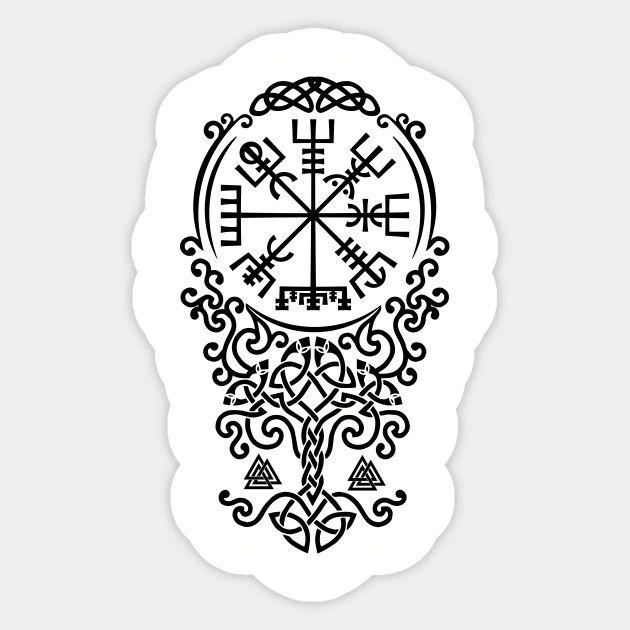 Vegvisir and Tree of life -Yggdrasil - Vegvisir - Sticker | TeePublic
