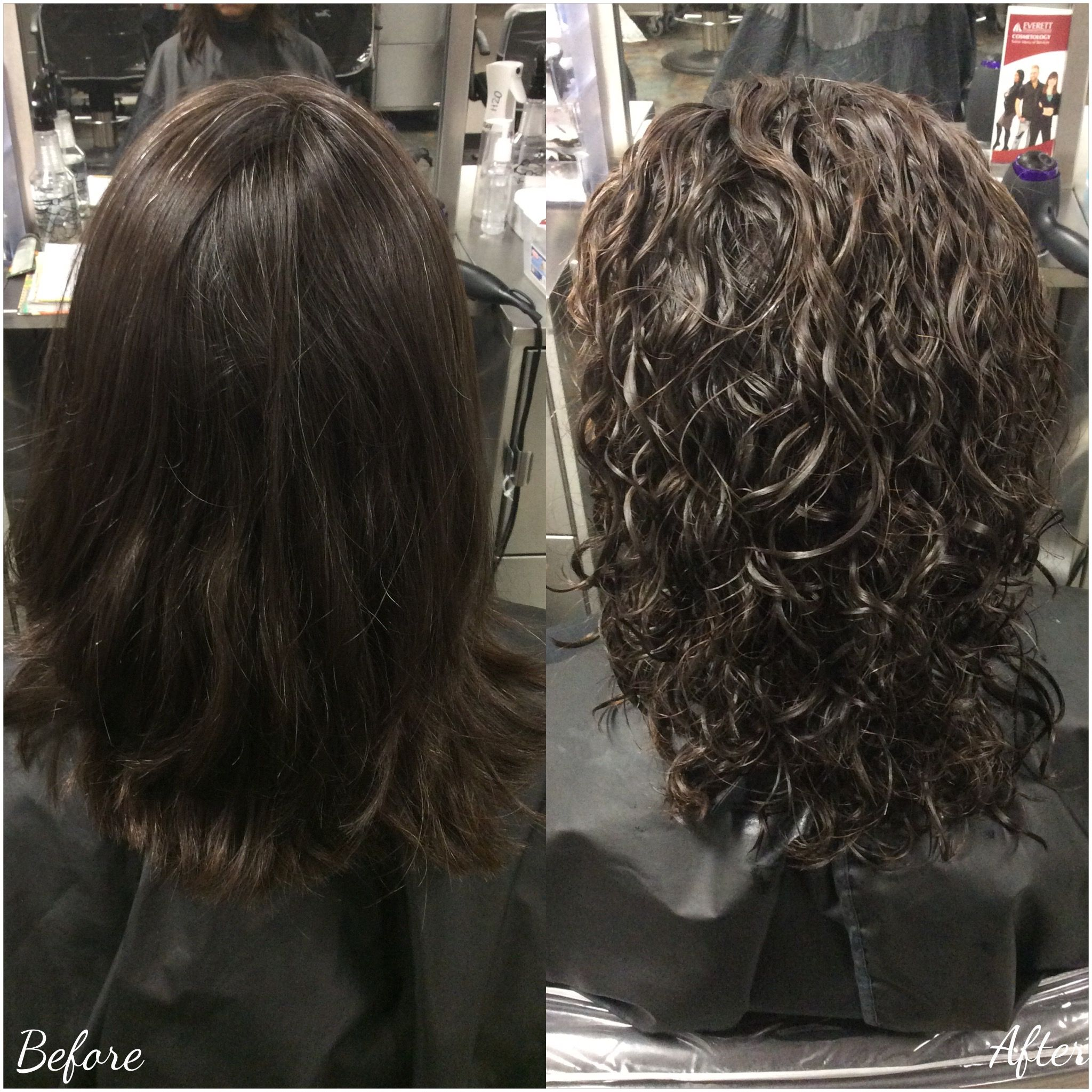 Spiral Perm Using White Rods And Ultra Firm Salutation We Use Boos Bounce To Style 11 30 16 Permed Hairstyles Hair Styles Perm