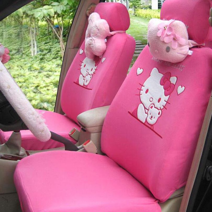 Cheap Seat Covers Accessories Buy Quality Car Cover Directly From China Universal Suppliers MUNIUREN Pink Cartoon Hello Kitty