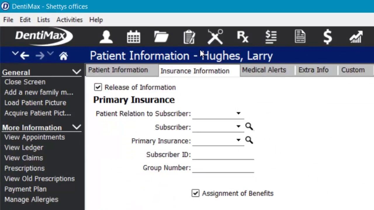 Update Billing Adding Insurance To The Ledger Dental Software