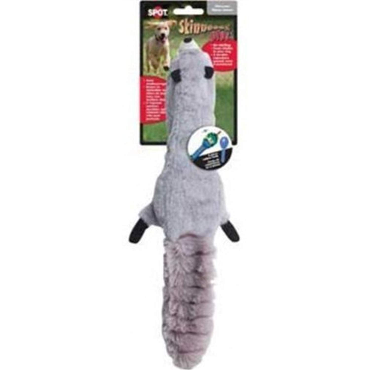 Ethical 5736 Skinneeez Plus Raccoon Stuffing Less Dog Toy 15 Inch