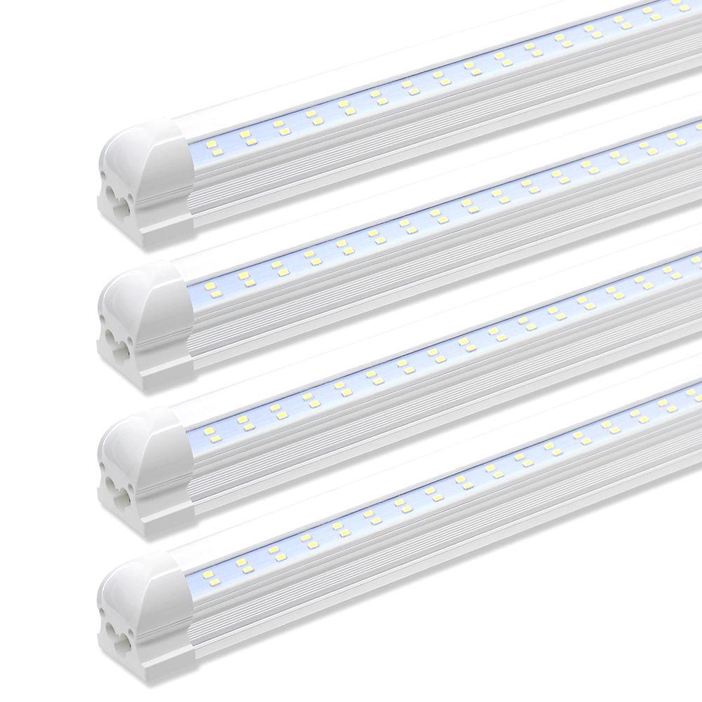 Led Shop Light Tube Garage Lights Fixture Ceiling In 2020 Led Shop Lights Led Tube Light Garage Lighting