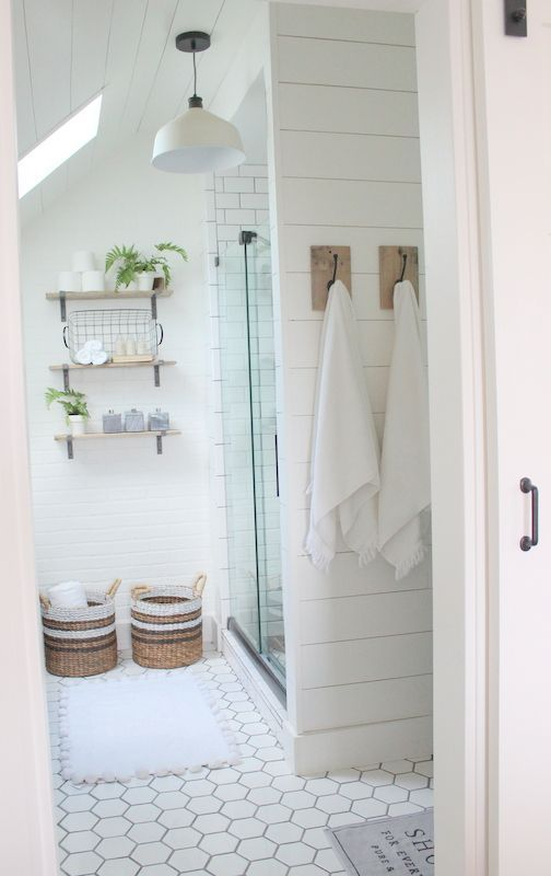 """Well, this little bathroom of ours is the smallest """"new"""" space that we created, and the most time consuming. How ironic. It's probably the most costly as well:) Why is that?!? We decided that anytime you do anything """"custom""""…the clock ticks slower and the wallet drains faster, even when you do it all yourself! But this time around we knew a few things we wanted to spend the time on….and money…such as the shower. So here's a before shot of whe"""