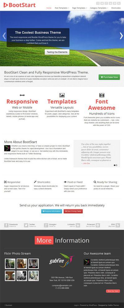 Bootstart Responsive WordPress Twitter Bootstrap Theme | Responsive ...
