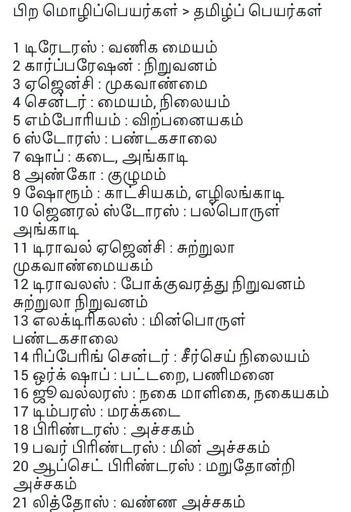 Pin by Sriram VS on தமிழ் | Tamil language, English vocabulary