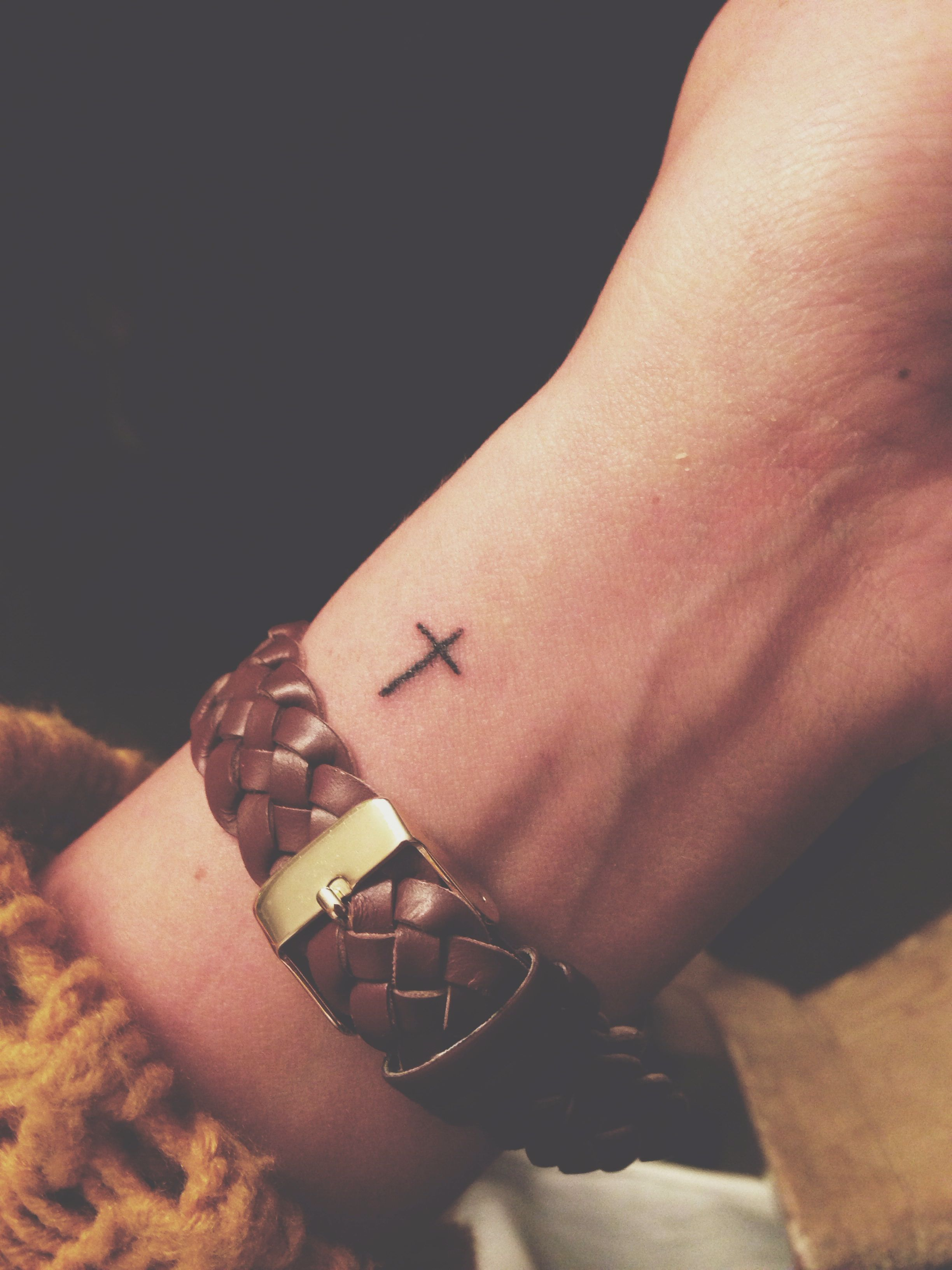 My Tiny Cross Tattoo Tattin It Up Pinte