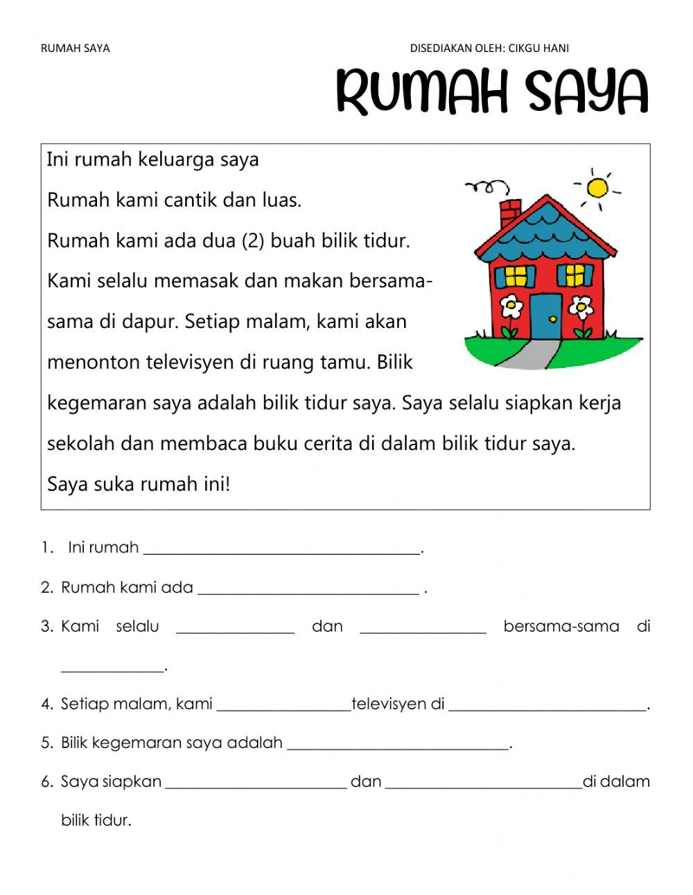 Pemahaman Online Worksheet For Beginner You Can Do The Exercises Online Or Download The Worksheet As P In 2021 Preschool Letters Microsoft Office Word English Lessons