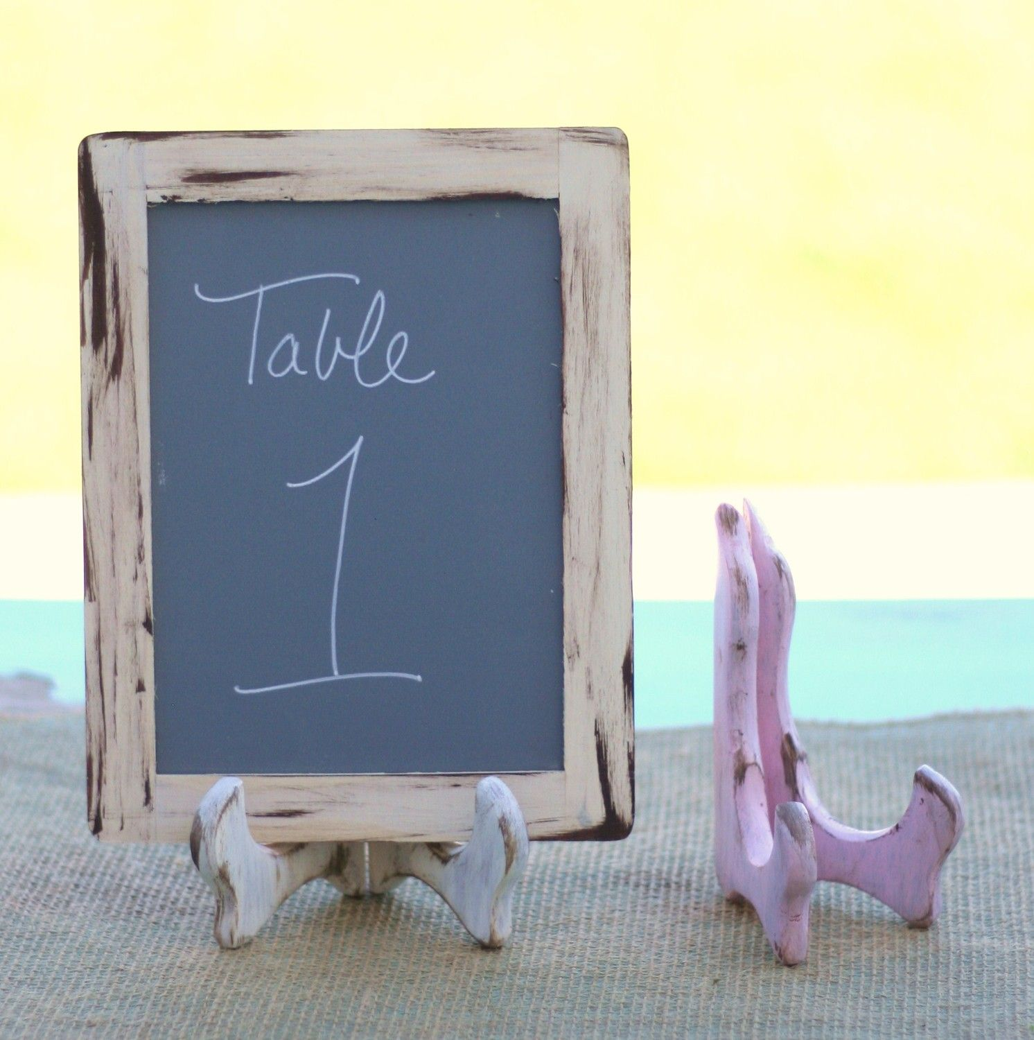 Set Of 12 4x6 Chalkboards With Small Easels Rustic Wedding Decor Item P10222