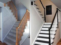 Escalier peint -17 Idées peinture escalier | Tiny houses, Doors and ...
