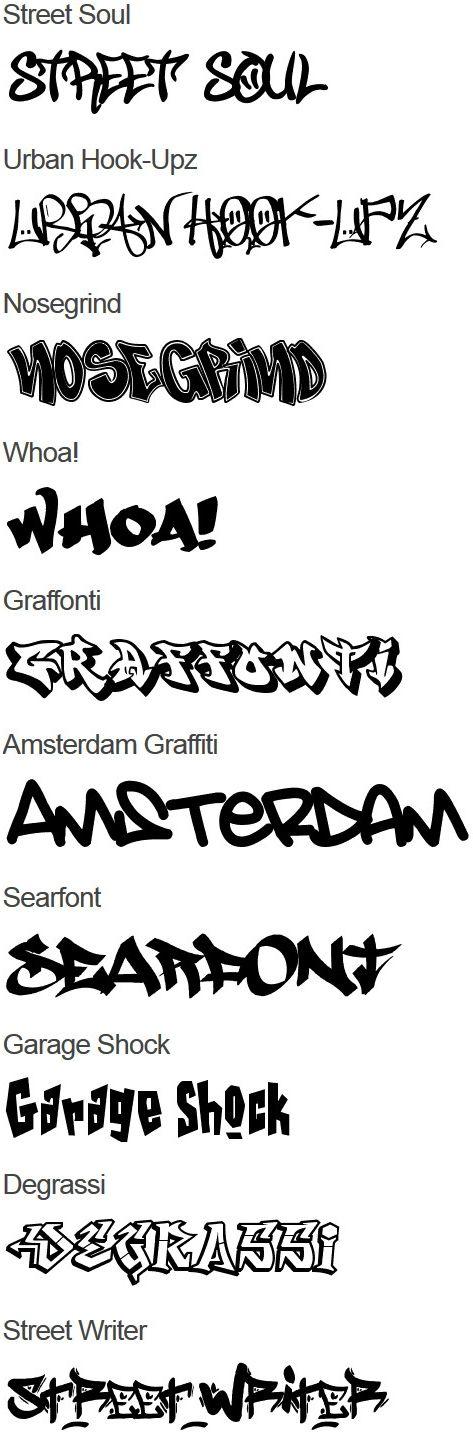 Graffiti Fonts Graffiti More