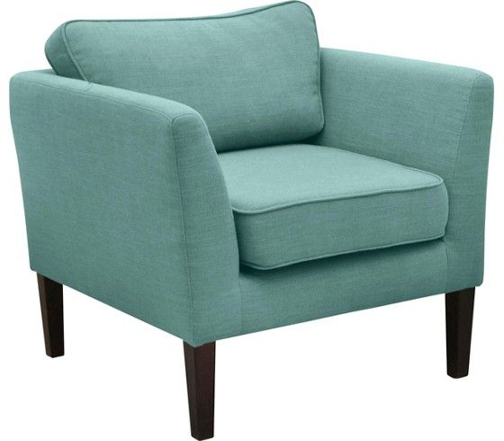 Schicker Sessel In Blau Ein Bequemer Klassiker In Leinenoptik