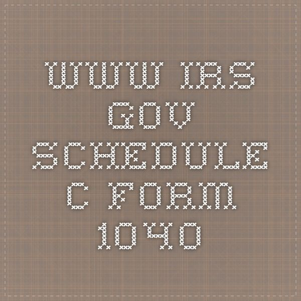WwwIrsGov Schedule C Form   Accounting And Tax Related